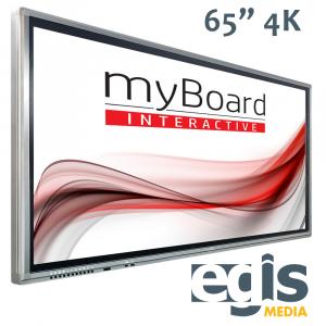Aktywna Tablica monitory interaktywne myBoard Grey 65 4K UHD