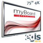 Aktywna Tablica monitory interaktywne myBoard Grey 75 4K UHD