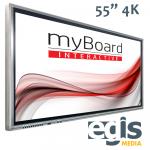 Aktywna Tablica monitory interaktywne myBoard Grey 55 4K UHD